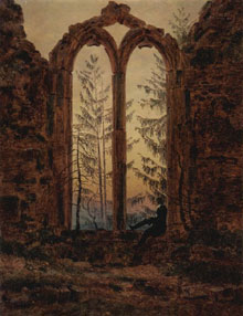 Illustration caspar david friedrich